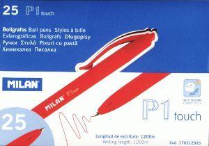 Milan Długopis czerwony P1 Rubber Touch - WIKR-067251 1