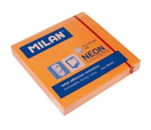 Milan Karteczki neonowe 75x75 mm pomarańczowe 1