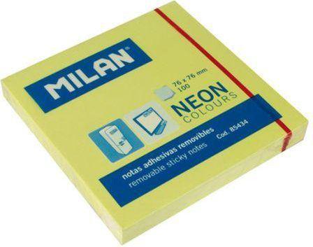 Milan Karteczki neonowe 75x75 mm żółte 1