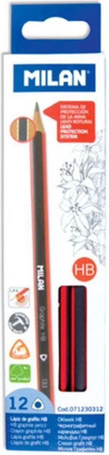 Milan Ołówki trójkątne HB 1