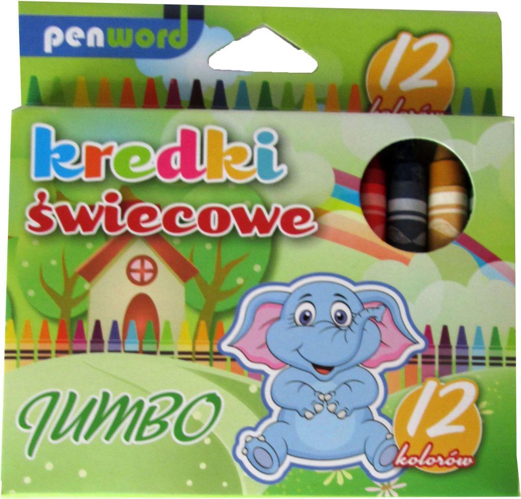 Penword Kredki świecowe 12 kolorów Jumbo - WIKR-1015778 1