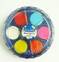 Starpak Farba akwarelowa w okrągłym pudełeczku 12 kolorów 1