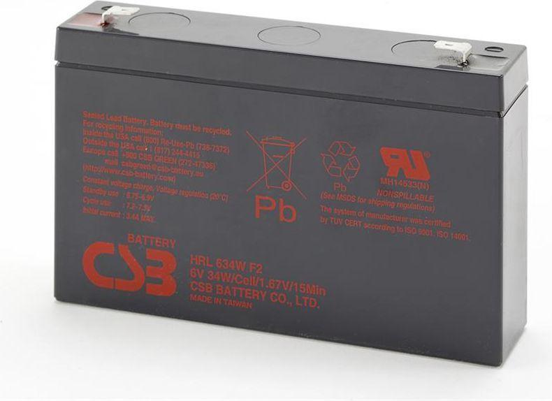 CSB Zestaw 4 akumulatorów HRL634W, 6V/9Ah, 34W (HRL634W F2x4) 1