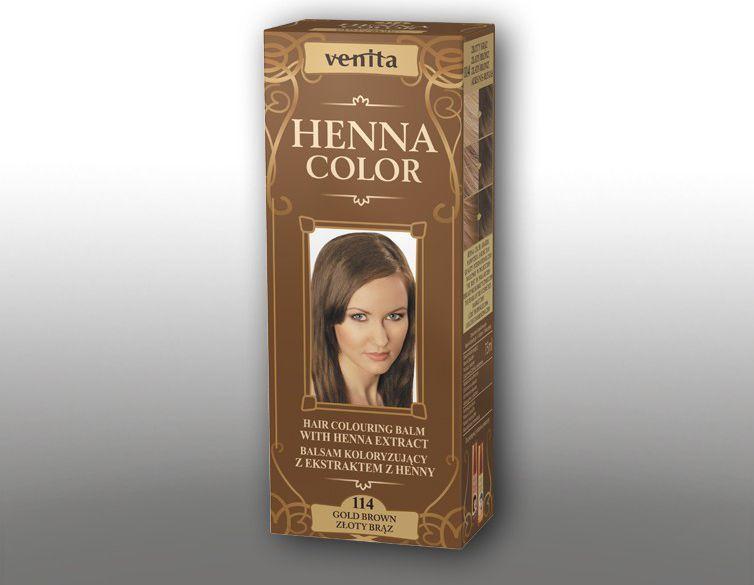 Venita Ziołowe Balsamy Henna Color 114 Złoty brąz 75ml 1