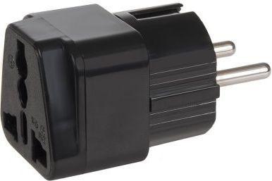 Maclean Adapter podróżny gniazdo UK na EU czarny (MCE155) 1