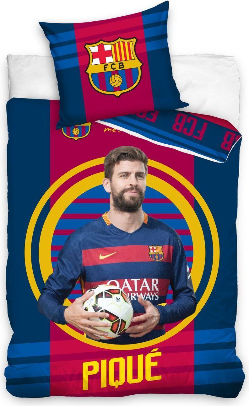 """Carbotex Pościel FC Barcelona """"Pique"""" 160x200 + 70x80 (FCB9007-PIQUE) 1"""