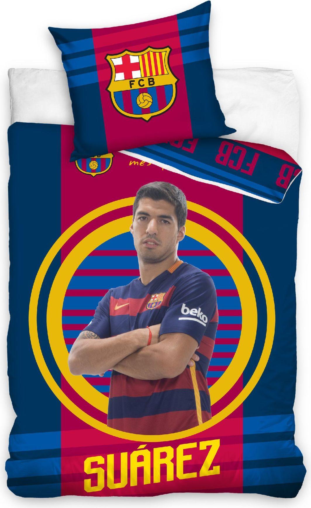 "Carbotex Pościel FC Barcelona ""Suarez"" 160x200 + 70x80 (FCB9007-SUAREZ) 1"