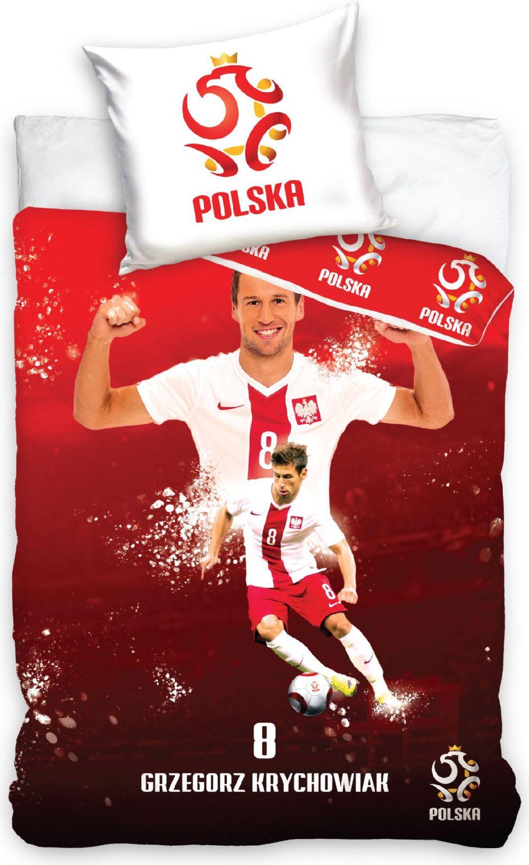 Carbotex Pościel Reprezentacja Polski PZPN G. Krychowiak 160x200 + 70x80 (PZPN1001B) 1