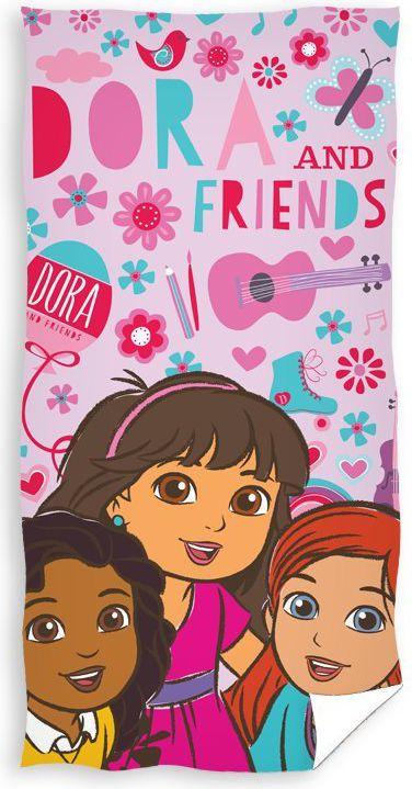 Carbotex Ręcznik kąpielowy Dora i przyjaciele 70x140 (DORA163016-R) 1