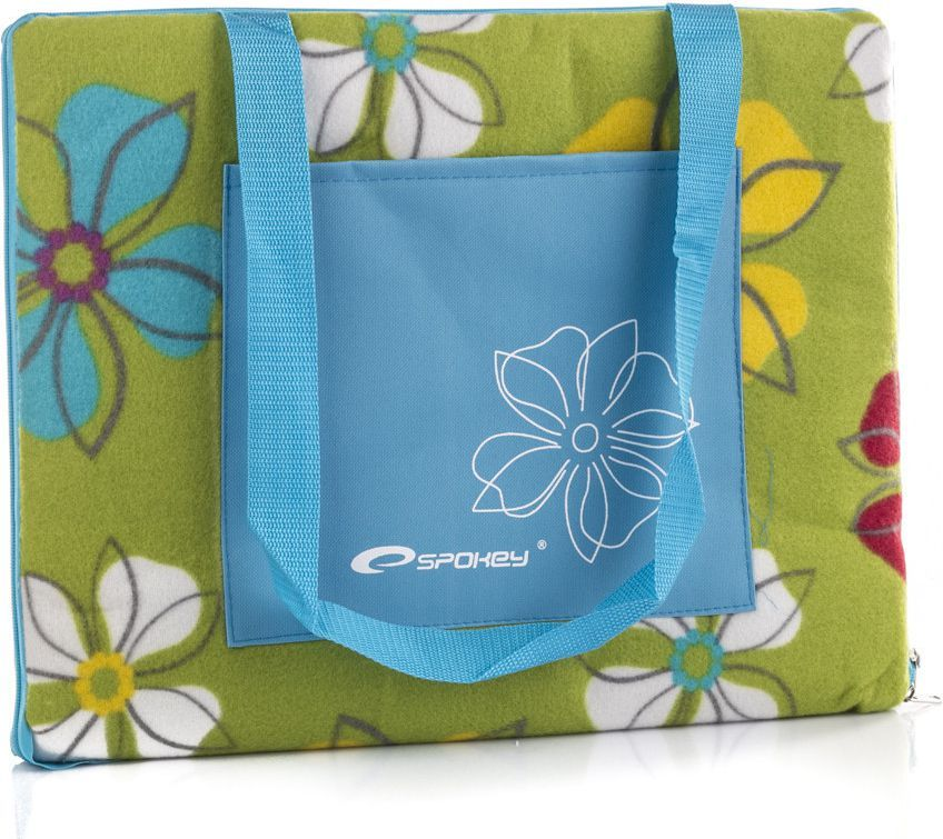 Spokey Koc piknikowy Picnic Flowers zielony 150x180cm (832818) 1