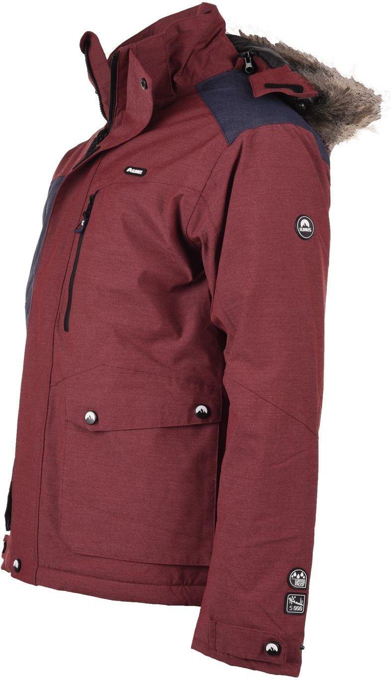 elbrus męska kurtka zimowa finbar 5428 cabernet