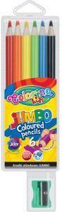 Colorino Kredki ołówkowe jumbo 6 kolorów + temperówka - WIKR-905066 1