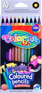 Colorino Kredki ołówkowe Metallic 10 kolorów - WIKR-930621 1