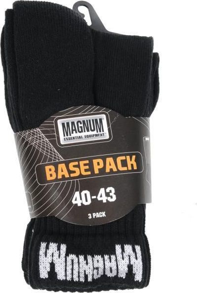 Magnum Skarpety męskie MAGNUM BASE PACK BLACK r. 44-47 1