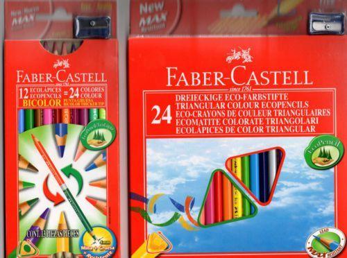 Faber-Castell Kredki 12 kolorów trójkątne Eco z temperówką - WIKR-1012493 1