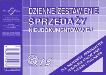 Michalczyk & Prokop Dzienne zestawienie sprzedaży nieudokumentowanej K15 (WIKR-006376) 1