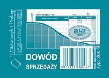 Michalczyk & Prokop Dowód sprzedaży A7 Typ 260-9 (WIKR-000692) 1