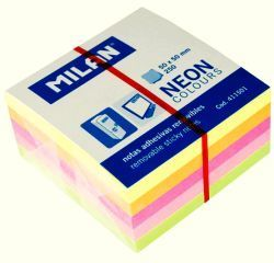 Milan Karteczki samoprzylepne 50x50 Neon - WIKR-927414 1