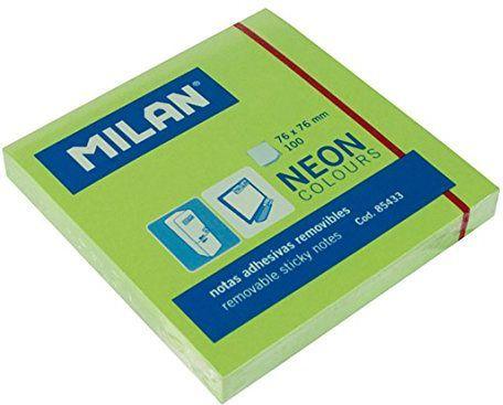 Milan Karteczki neonowe 75x75 mm zielone (282090) 1