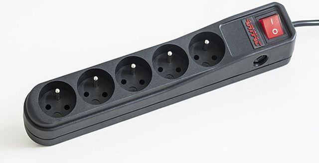 Listwa zasilająca Armac A5 przeciwprzepięciowa 5 gniazd 5m czarny (A5/CZ/50) 1