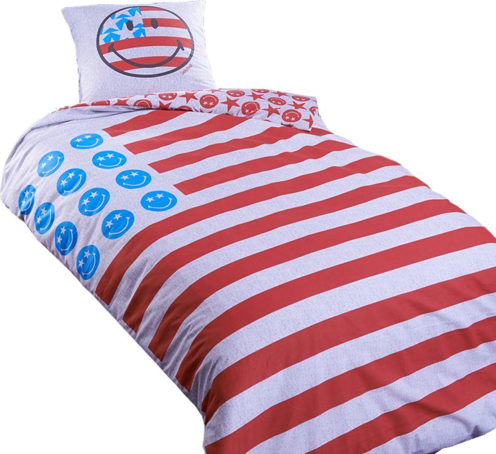 Room99 Pościel Smiley Americana 140x200 + 1 Poszewka 64X64 (ROM1082) 1