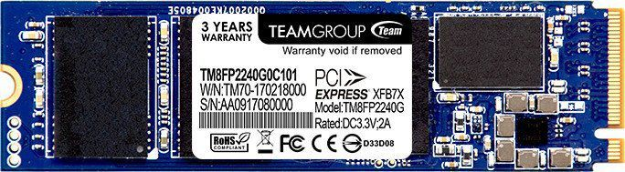 Dysk SSD Team Group P30 240 GB M.2 2280 PCI-E x4 Gen3 NVMe (TM8FP2240G0C101) 1