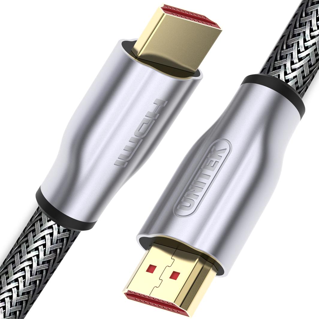 Kabel Unitek HDMI - HDMI 1m srebrny (Y-C136RGY) 1