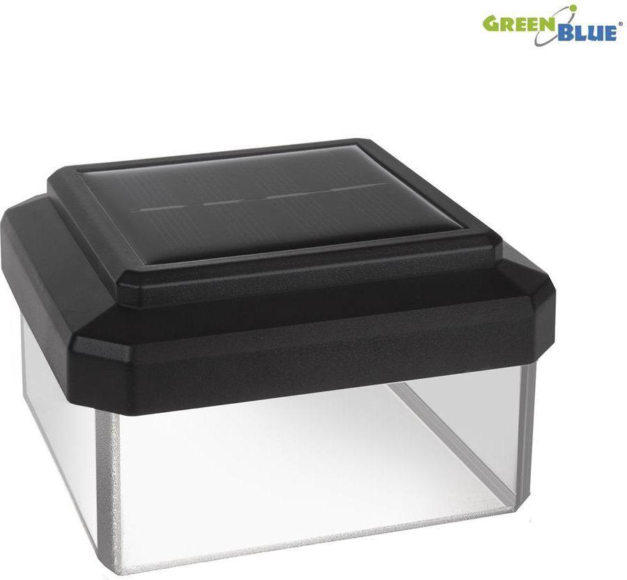 GreenBlue Lampa solarna na słupek LED 80*80 daszek kopertowy (GB127) 1