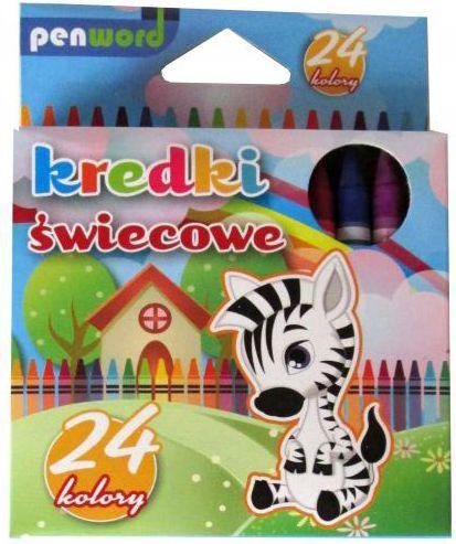 Penword Kredki świecowe 24 kolory 8924 1