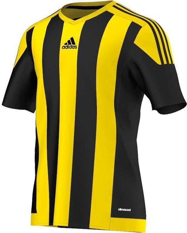 00d5e12b55b153 Adidas Koszulka piłkarska Striped 15 żółto-czarna r. S (S16143) w ...