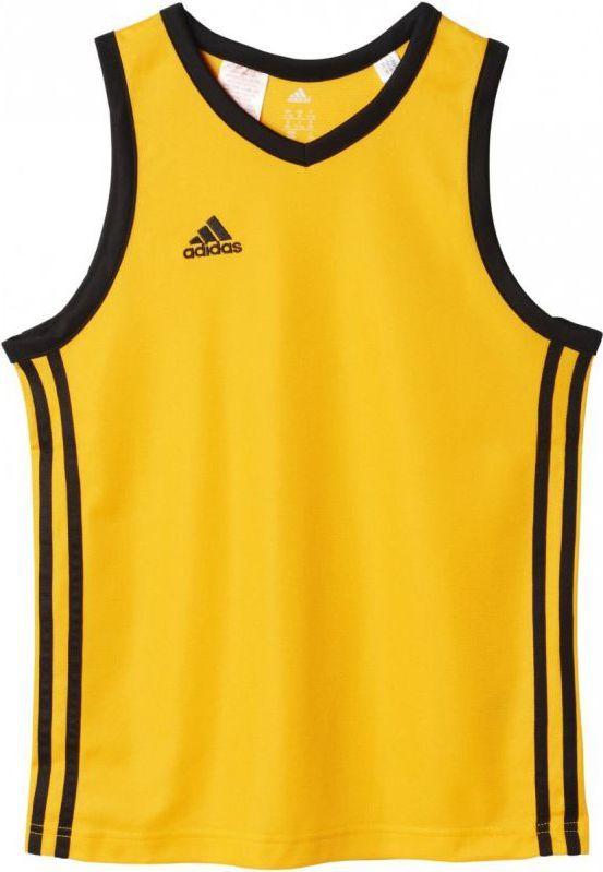 Adidas Koszulka koszykarska Commander Shoot Junior Żółta, Rozmiar 116 (G91754*116) ID produktu: 1360159