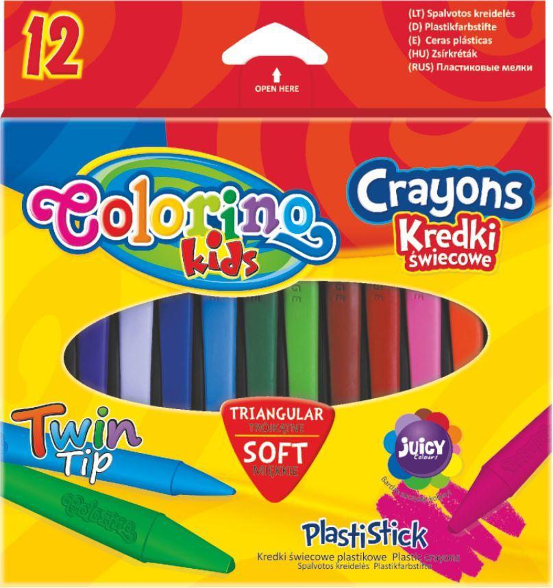 Colorino Kredki świecowe trójkątne 12 kolorów 1