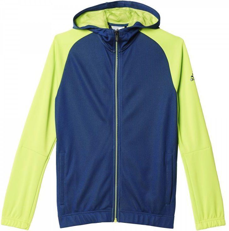 odebrać autentyczny 100% wysokiej jakości Adidas Bluza Locker Room Quarter Theme Full Zip Hoodie Junior  Granatowo-zielona, Rozmiar 110 (AJ5607*110) ID produktu: 1363071