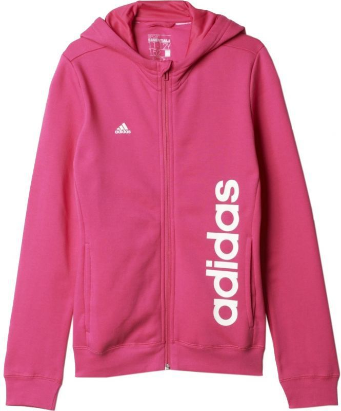 Adidas Bluza YG Essentials Linear Full Zip Junior Różowa, Rozmiar 104 (AK2102*104) ID produktu: 1363080