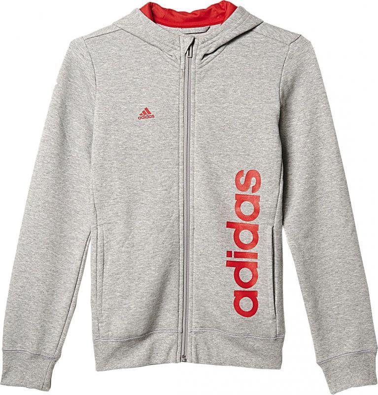 Adidas Bluza Linear Full Zip Hoodie Junior Szara, Rozmiar 116 (AY8329*116) ID produktu: 1363099