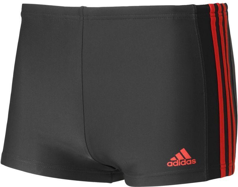 60552a5631573e Adidas Kąpielówki Essence Core 3-Stripes Boxer Grafitowo-czerwone Rozmiar 6  (BQ0634*6) w Sklep-presto.pl