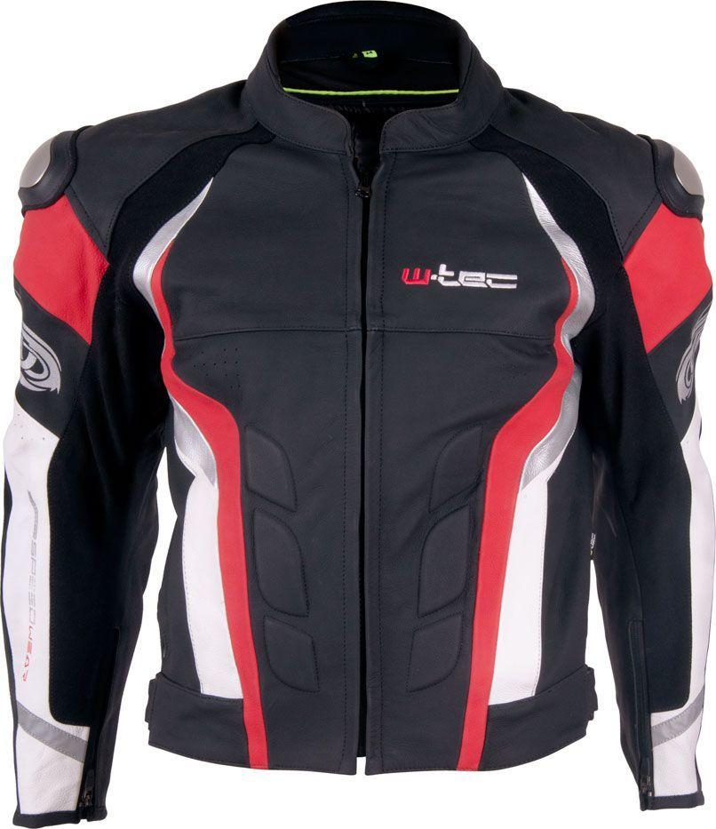 W TEC Kurtka motocyklowa męska skórzana Velocity czarno czerwona r. XL (9763 XL 3) ID produktu: 1366177