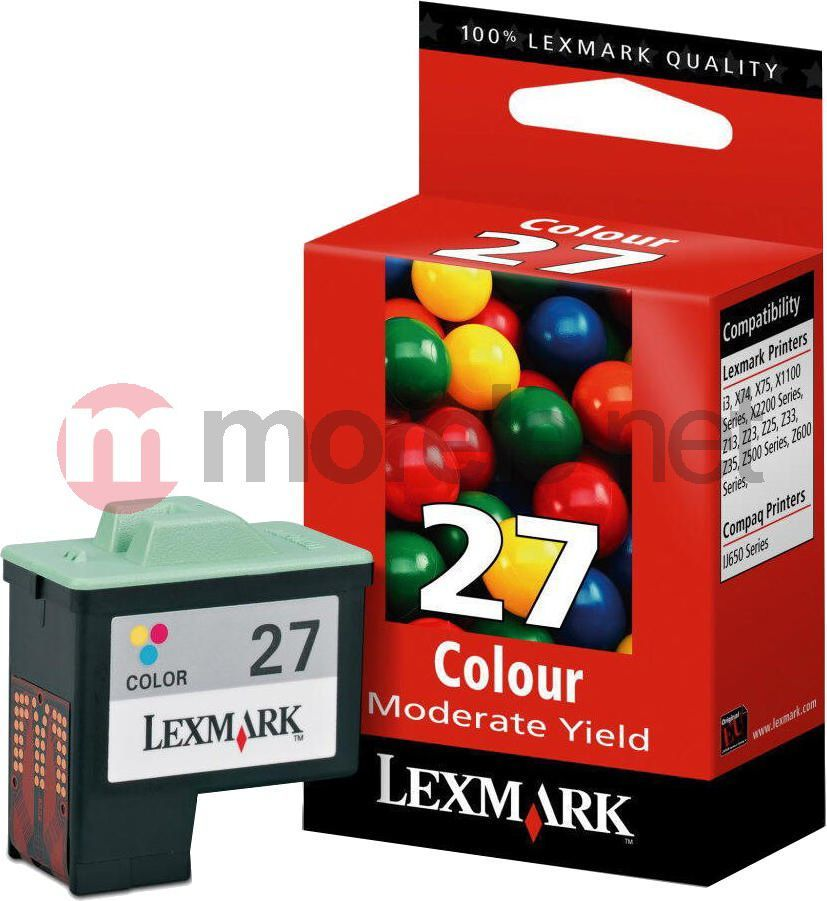 Lexmark tusz 27 Kolor 10NX227E 1