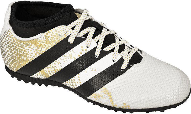 Adidas Buty piłkarskie ACE 16.3 PRIMEMESH TF Jr Białe r. 38 23 (AQ3437) ID produktu: 1369936