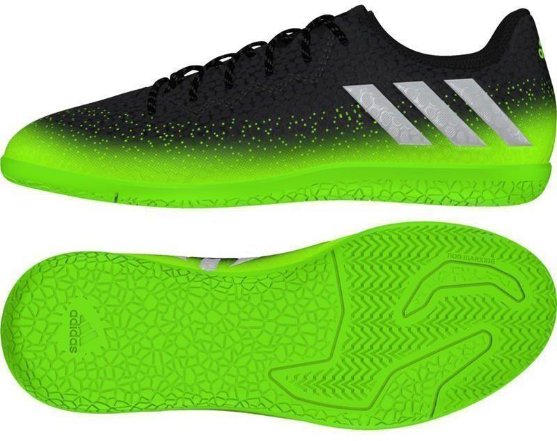 Adidas Buty piłkarskie Messi 16.3 IN Jr czarno zielone r. 32 (AQ3521) ID produktu: 1369944
