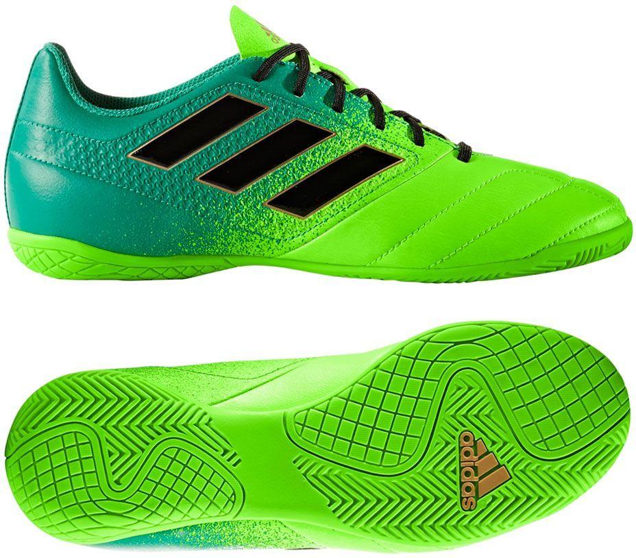 Adidas Buty halowe juniorskie ACE 17.4 IN zielone r. 33 (BB1055) ID produktu: 1370311