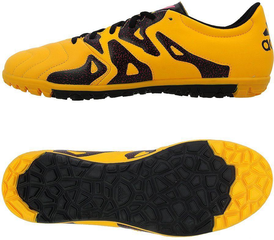 Adidas Buty piłkarskie X 15.3 TF Leather żółto czarne r. 44