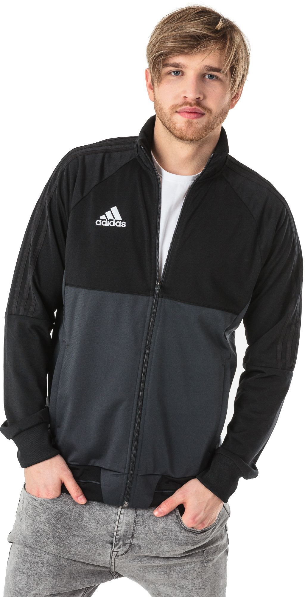 Adidas Bluza piłkarska Tiro 17 czarno szara r. XL (AY2875) ID produktu: 1372706