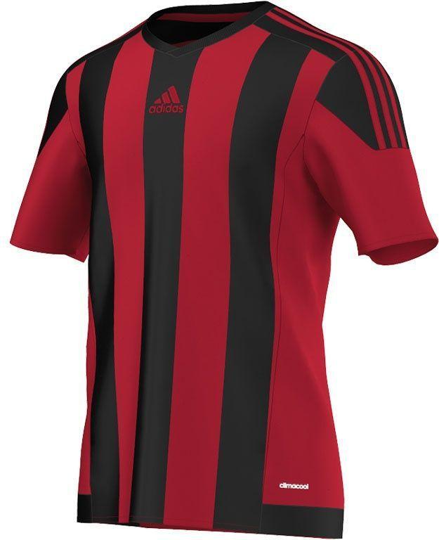Adidas Koszulka piłkarska męska Striped 15 czarno czerwona r. XL (AA3726) ID produktu: 1374300