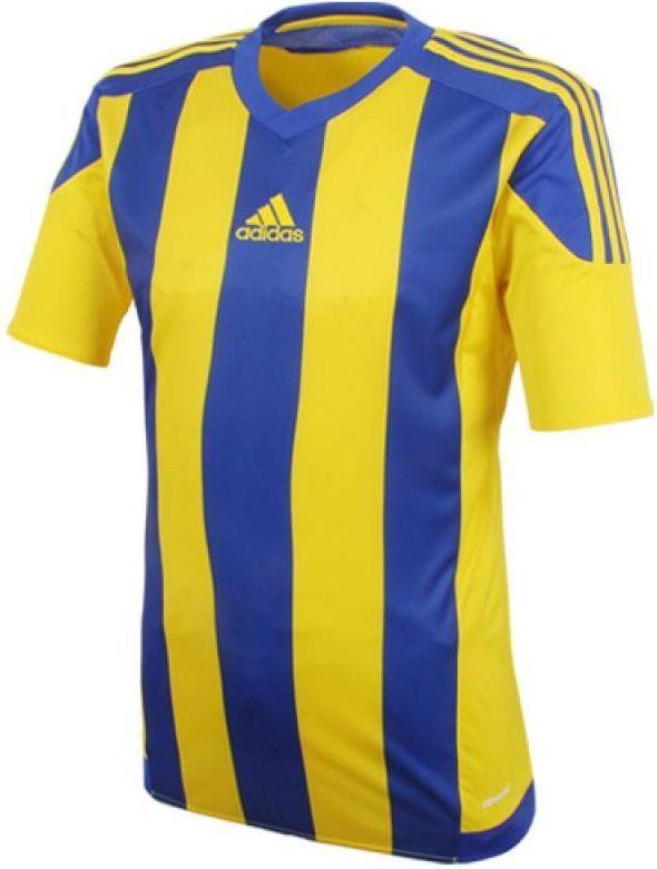 9ac89e575f8e91 Adidas Koszulka piłkarska Striped 15 granatowo-żółta r. L (S16142) w ...