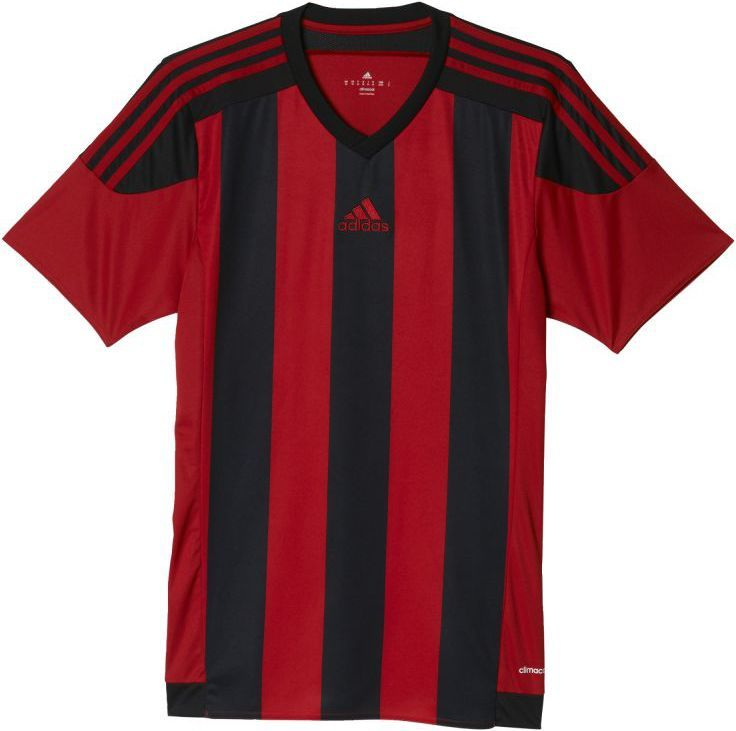 Adidas Koszulka piłkarska Striped 15 Junior Czerwono czarna, Rozmiar 164 (AA3726) ID produktu: 1375475