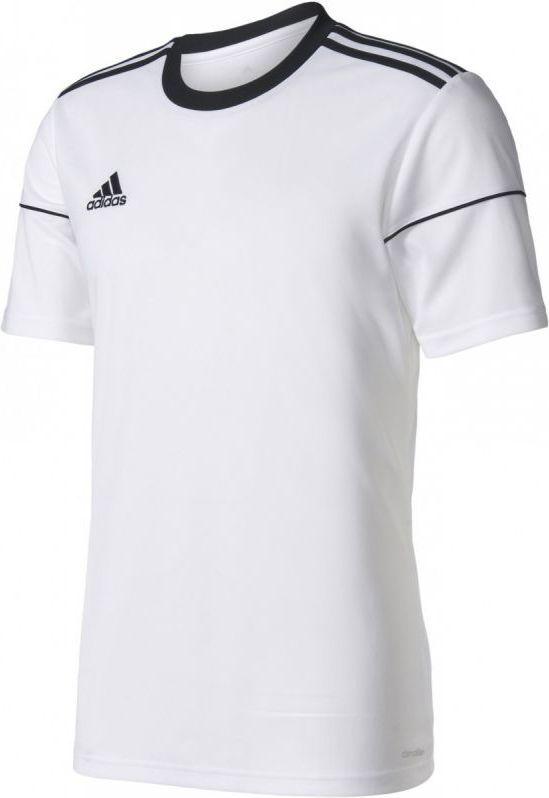 Adidas Koszulka piłkarska Squadra 17 Junior Biała, Rozmiar 128 (BJ9175*128) ID produktu: 1375525