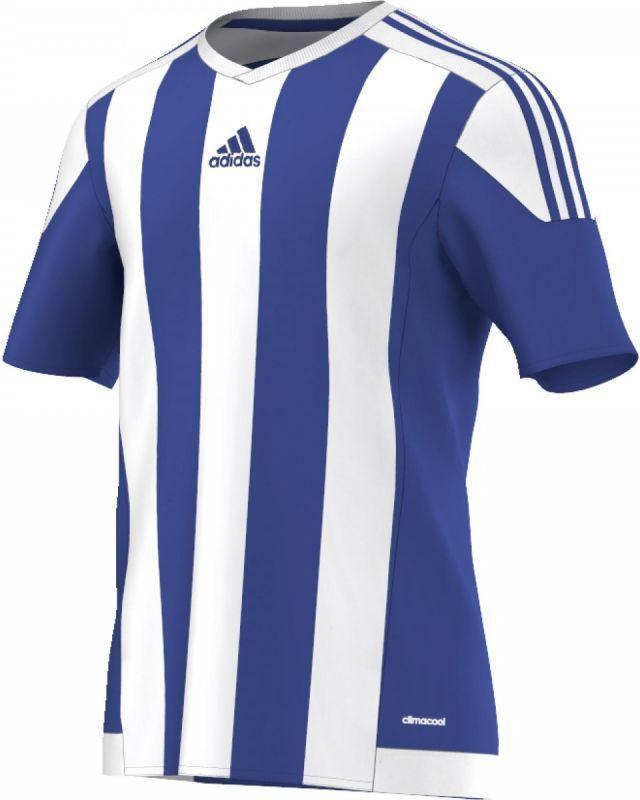 Adidas Koszulka piłkarska Striped 15 Junior Biało niebieska, Rozmiar 128 (S16138) ID produktu: 1376091