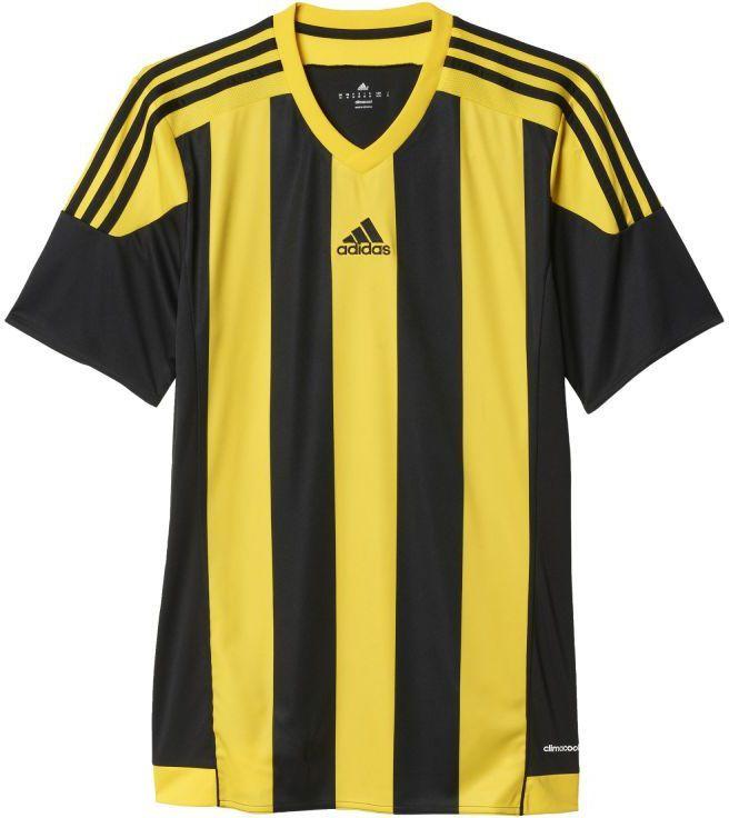 161a8014c7df4e Adidas Koszulka piłkarska Striped 15 Junior czarno-żółta r. 140 (S16143)