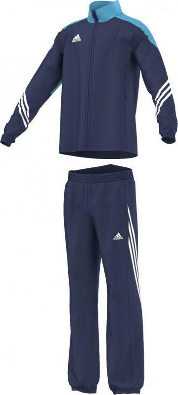 Adidas Dres reprezentacyjny Sereno 14 Junior Granatowy, Rozmiar 140 (F49681*140) ID produktu: 1376474